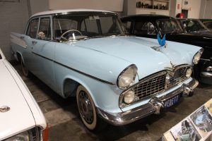 The 1959 Simca Vedette on display at the Gippsland Vehicle Collection in Maffra
