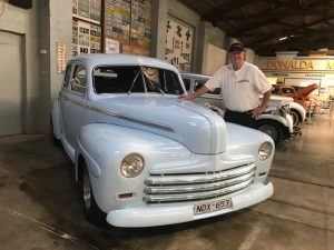 Moody Blue, a 1947 Super Deluxe Ford panel van with a few modifications, will be on show for the next four months at the Gippsland Vehicle Collection's Rod and Custom Cars and Bikes exhibition.